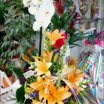 centro con orquidea